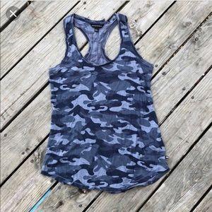 Rock & Republic Blue Camouflage Racerback Sz S